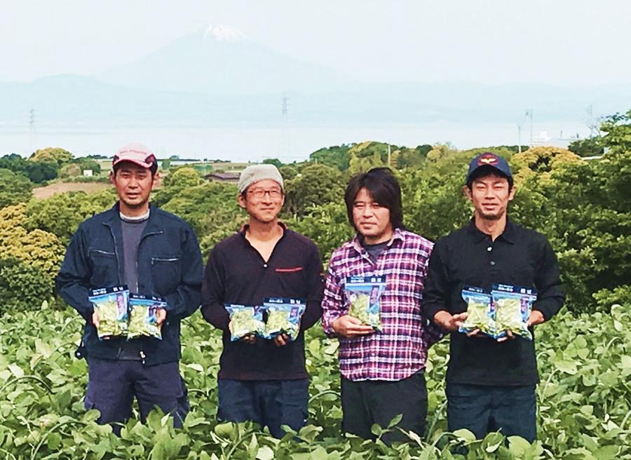 はねっ娘会は三浦半島の4人の農家が作る枝豆生産団体です。